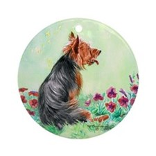Australian Terrier Ornament (Round)