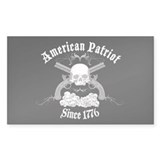 American Patriot Since 1776 Rectangle Sticker 50