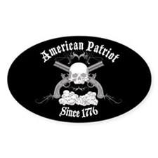 American Patriot Since 1776 Oval Sticker (10 pk)
