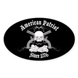 American Patriot Since 1776 Oval Decal