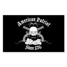 American Patriot Since 1776 Rectangle Decal