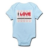 I LOVE LANDSCAPE ENGINEERS Infant Bodysuit