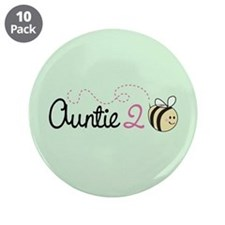 "Auntie To Bee 3.5"" Button (10 pack)"