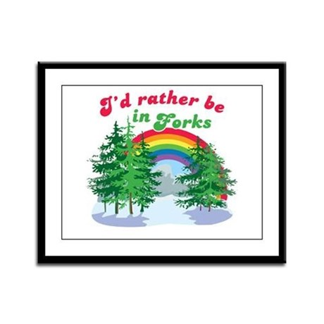 I'd Rather Be In Forks Framed Panel Print