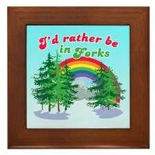 I'd Rather Be In Forks Framed Tile