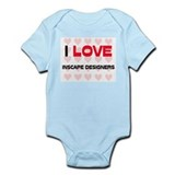 I LOVE INSCAPE DESIGNERS Infant Bodysuit