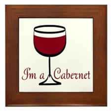 Cabernet Drinker Framed Tile