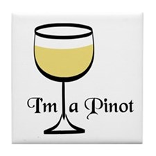 Pinot Wine Drinker Tile Coaster