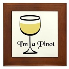 Pinot Wine Drinker Framed Tile