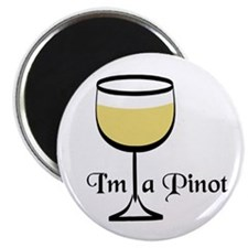 "Pinot Wine Drinker 2.25"" Magnet (100 pack)"