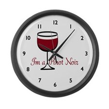 Pinot Noir Wine Drinker Large Wall Clock