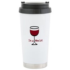 Merlot Wine Drinker Ceramic Travel Mug