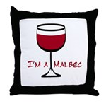 Malbec Drinker Throw Pillow