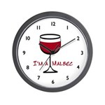 Malbec Drinker Wall Clock