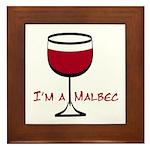 Malbec Drinker Framed Tile