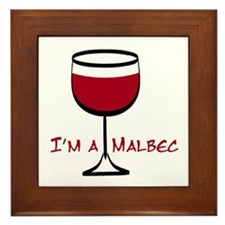 Malbec Drinker Framed Tile
