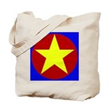 Mad Color Yellow Star Tote Bag