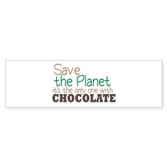 Only Planet with Chocolate Bumper Sticker (10 pk)