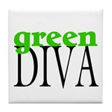 Green Diva Tile Coaster