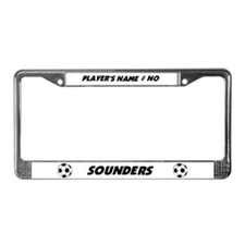 Funny Sounders License Plate Frame