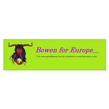 Bowen for Europe Bumper Bumper Sticker