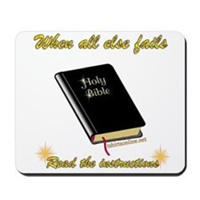 Cute Read bible Mousepad