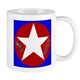 Mad Color White Star Mug