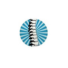 Blue Burst Spine Mini Button (10 pack)