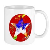 Mad Color Red Splatter Star Mug