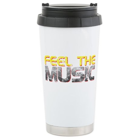 Feel The Music Ceramic Travel Mug