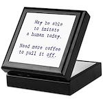 Imitate human with coffee Keepsake Box