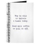 Imitate human with coffee Journal