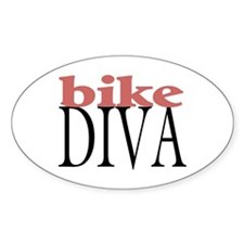 Bike Diva Oval Sticker (50 pk)