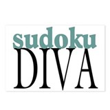 Sudoku Diva Postcards (Package of 8)