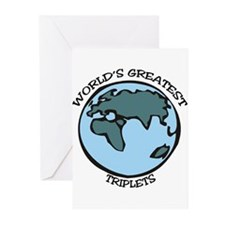 Greatest Triplets Greeting Cards (Pk of 10)