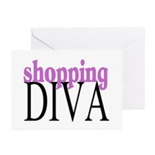 Shopping Diva Greeting Cards (Pk of 10)