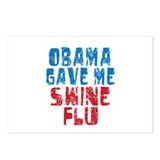 Obama Swine Flu Postcards (Package of 8)
