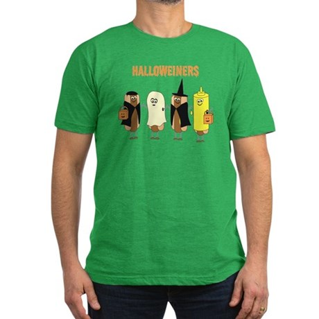 Halloweiners Men's Fitted T-Shirt (dark)