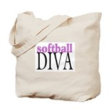 Softball Diva Tote Bag