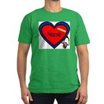 Nurse Heart Men's Fitted T-Shirt (dark)