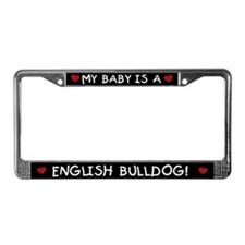 English Bulldog License Plate Frame