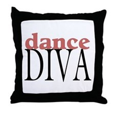 Dance Diva Throw Pillow