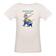 Grandpas Make Memories Organic Baby T-Shirt