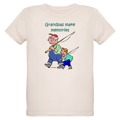 Grandpas Make Memories Organic Kids T-Shirt