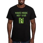 Make Music Not War Men's Fitted T-Shirt (dark)