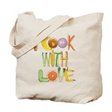 I Cook With Love canvas tote bag