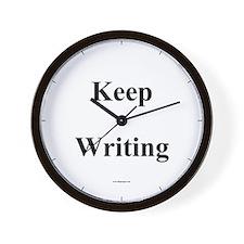 """Keep Writing"" Wall Clock"