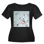 Champion Women's Plus Size Scoop Neck Dark T-Shirt