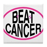 Beat Cancer + r&s - Tile Coaster