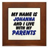 my name is johanna and I live with my parents Fram
